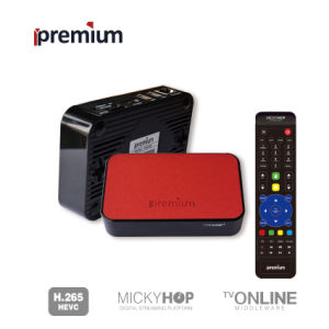 Ipremium Tvonline+ Leather Material Smart TV Set Top Box with Mickyhop System Quad Core IPTV Different From Xiaomi TV Box pictures & photos