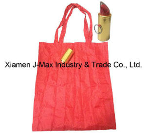 Foldable Shopper Bag, Lipstick Style, Reusable, Lightweight, Grocery Bags and Handy, Gifts, Tote Bag, Decoration & Accessories, Promotion Bags pictures & photos