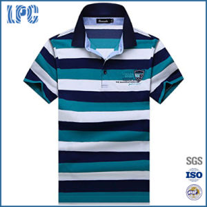 Mens Fashion Brands Short Sleeve Striped Polo Shirt pictures & photos