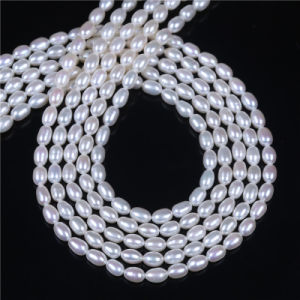 5mm 6mm AAA Rice Shape Pearl Strand pictures & photos