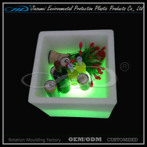 Cheap Prices plastic Cube LED Container for Beer Storage pictures & photos