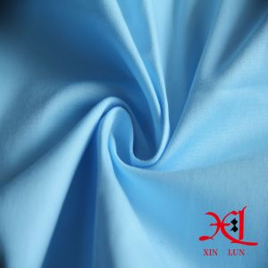 Light Blue Elastic Cotton Fabric for Suits/Pants pictures & photos