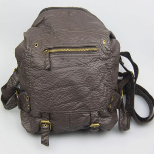 Leisure Bag Women Washed PU Backpack Bag Supplier pictures & photos