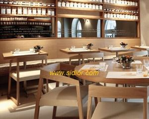 (SD-1005) Restaurant Furniture Wooden Dining Chair with Fabric Seat pictures & photos