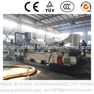 Full Automatic Single Screw Extruder Pelletizing Machine for HDPE Flakes pictures & photos