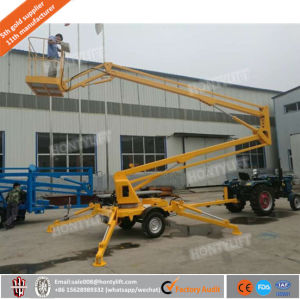 Desiel AC DC 8m 10m 12m Hydraulic Truck Mounted Articulated Boom Lift with Ce Approved pictures & photos
