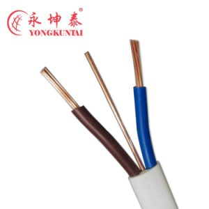 BVVB Type Flat Twin Plus Earth Wire PVC Cabling Insulation PVC Jacket Cable pictures & photos