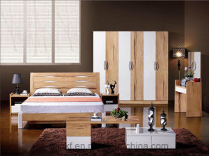 Melamine 3 Drawer Dresser for Bedroom Furniture Sets (HX-LS031) pictures & photos
