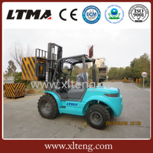 Ltma New 3 Tons Diesel Forklift 2WD ATV Rough Terrain Forklift pictures & photos
