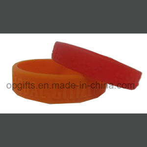 New Style Emboss or Debssed Silicon Band Silicone Bracelet pictures & photos