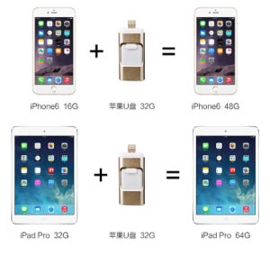 OTG USB 3.0 Disk for Mobile Phone and Computer Ios 7/8/9 and Android 4.0 pictures & photos