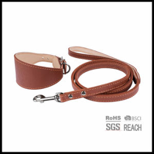 Genuine Leather Pet Dog Puppy Leashes and Collars pictures & photos