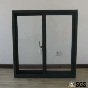 Powder Coated Brown Colour Crescent Lock Aluminum Sliding Window, Aluminum Window, Window K01015 pictures & photos