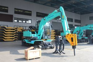 High Quality 6ton Hydraulic Wheel Excavator, Mini Wheel Excavator for Sale pictures & photos