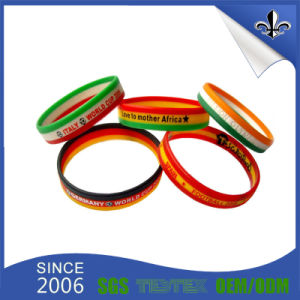 New Product Customize Debossed Logo Silicone Bracelet pictures & photos