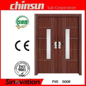 Double PVC Door with Glass (SV-P003) pictures & photos