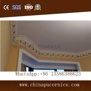 Beautiful PU Ceiling Cornice Moulding/Polyurethane Crown Moulding pictures & photos