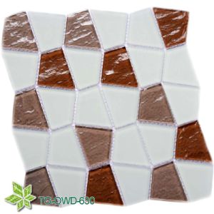 Super White Quadrilateral Glass Mosaic (TG-OWD-630) pictures & photos
