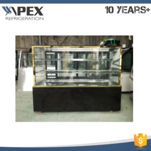 1.5m Black Color Square Glass Cake Showcase Cake Display Refrigerator pictures & photos