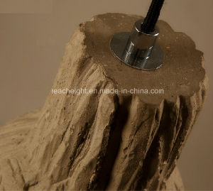 Restaurant Cafe Pub Club Vintage Wood Imitated Cement Droplight/Hanging Lamp pictures & photos