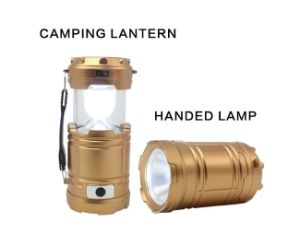 Handed Emergency Rechargeable Solar Charger Camping Lamp pictures & photos