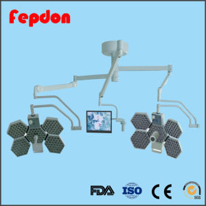 Double Head Surgical Room Light with Handle Camera (SY02-LED5+5) pictures & photos