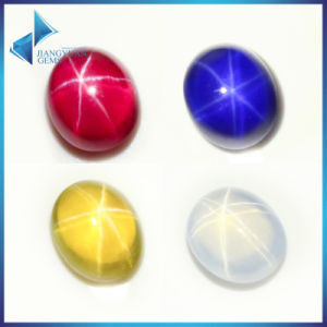 Cabochon Flat Back Star Synthetic Ruby Star Synthetic Sapphire pictures & photos