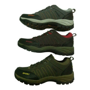 Fashion Men′s Leather Hiking Trekking Shoes pictures & photos