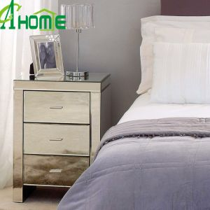 Hot Sale Home Furniture 3 Drawers Mirror Nightstand pictures & photos