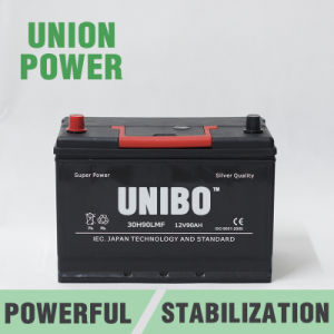 JIS Standard Auto Battery 30h90L Mf 12V90ah High Performance Car Battery pictures & photos