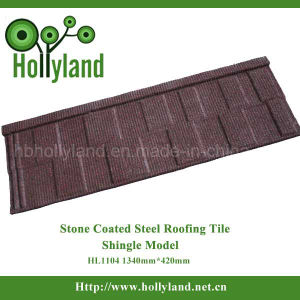 Construction Material Stone Coated Metal Roof Tile (Shingle Type) pictures & photos