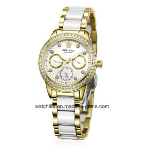 New Fashion Diamond Stainless Steel Ladies Wrist Watch pictures & photos