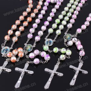 Colourful Plastic Religious Rosary Necklace, 59 Beads Rosaries pictures & photos