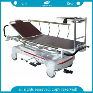 AG-HS005 with Al-Alloy Handrails Hospital Stretcher Patient Trolley pictures & photos