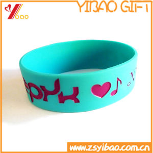 Wholesale Custom Logo Silicone Bracelet and Silicone Wristband Promotion Gift (YB-HR-378) pictures & photos