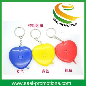 2m Mini Heart Design Retractable Tape Measure Keychain Promotional pictures & photos