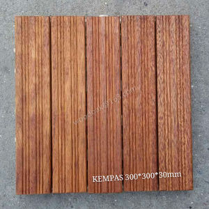Hardwood Flooring Decking Flooring for Kempas Sand Beach Flooring pictures & photos