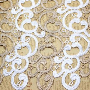 Factory Stock Wholesale 29cm Width Bi-Color Embroidery Chemical Lace Polyester Embroidery Trimming Fancy Lace for Garments Accessory & Home Textile & Curtains pictures & photos