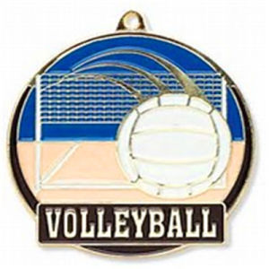 High Quality Soft Enamel Volleyball Medallion Gift pictures & photos