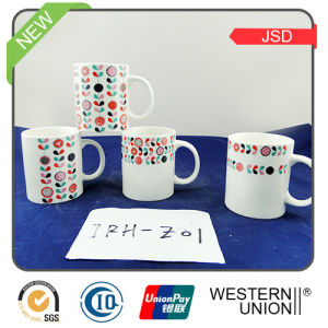Thin Porcelain Coffee Mug with Painting pictures & photos