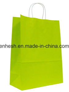 Custom Design Promotional Recyclable Luxury Retail Kraft Paper Bag