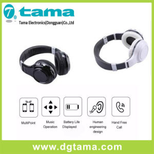 White Black Foldable Overhead Headband Headphone Wireless Bluetooth Headphone pictures & photos