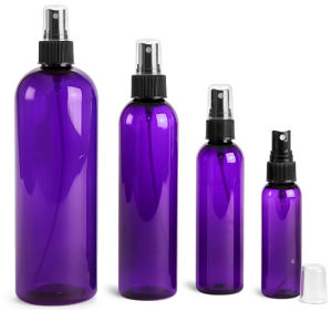 1oz 2oz 4oz 8oz 16oz Purple Cosmo Pet Bottle with Fine Mist Sprayer pictures & photos