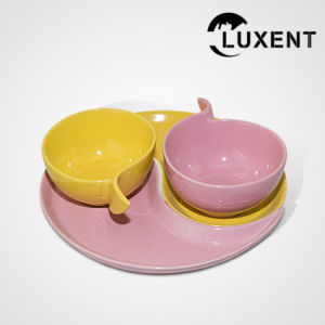 High Quality Restaurant Ceramic Sharp-Angled Cup and Saucer