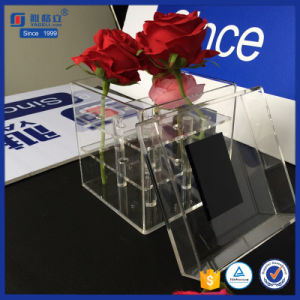 All-Round Display Clear Acrylic Square Flower Box with Lid pictures & photos