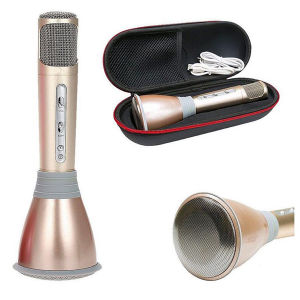 2 in 1 portable Wireless Karaoke Player Handheld Microphone with Bluetooth Speaker for Music Playing Singing Anytime Anywhere pictures & photos