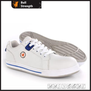 Microfiber Leather Casual Safety Shoe with Rubber Outsole (SN5468) pictures & photos