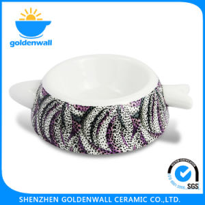 Eco-Friendly 250ml Porcelain Cat Bowl with Customized Logo pictures & photos