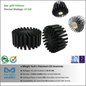 37.5W Aluminum LED Heat Sink for Edison Cobs