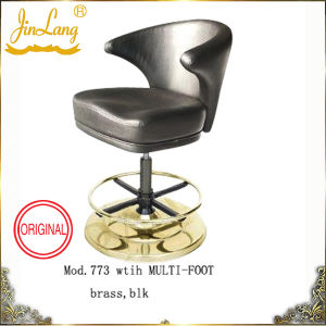 Casino Chair Mod. 773 With Multifoot Brass, Blk